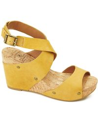Lucky Brand Moran Wedge Sandals - Lyst