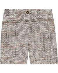 Mulberry - Cotton-blend Bouclé-tweed Shorts - Lyst