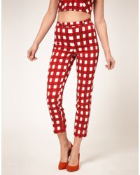 ASOS Collection Gingham Trousers - Lyst