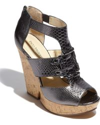 Enzo Angiolini Dossil Wedge Sandal - Lyst