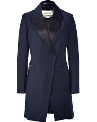 By Malene Birger Light Ink Wool-blend Short Coat - Lyst