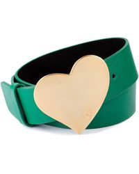 Diane Von Furstenberg Green Leather Belt - Lyst
