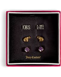 Juicy Couture | Gold and Silver Elephant Luck Trio Earrings | Lyst
