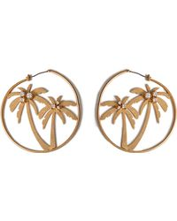 Juicy Couture | Gold-tone Palm Tree Hoop Earrings | Lyst