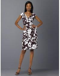 Lauren by Ralph Lauren Gathered Empire-waist Dress - Lyst