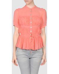 Raoul Short Sleeve Shirts pink - Lyst