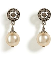 R.j. Graziano | Cream Pearl Drop Earrings | Lyst