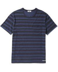 Acne Studios Striped Cotton T-shirt - Lyst