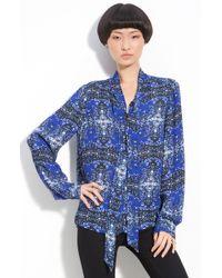 A.L.C. Batik Print Silk Blouse - Lyst