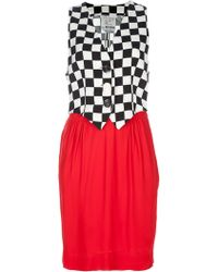 Moschino Checked Dress red - Lyst