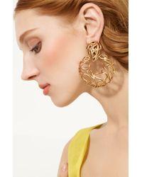 Oscar de la Renta Russian Gold Hoop Earrings - Lyst