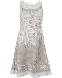 Oscar de la Renta Embroidered Dress - Lyst