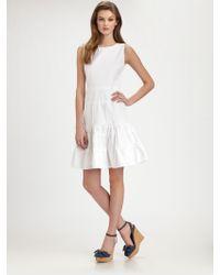 RED Valentino Sleeveless Cotton Dress - Lyst