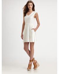 Theory Narida Linen Dress beige - Lyst