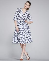 Diane Von Furstenberg Raven Full-Skirt Printed Dress - Lyst