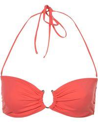 Topshop Coral Bandeau Bikini Top - Lyst