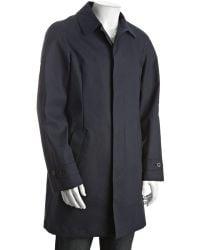 Gucci Cadet Blue Cotton Three-quarter Walking Coat - Lyst