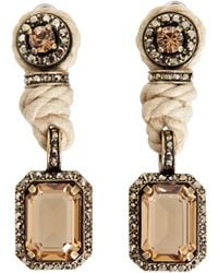 Lanvin Rope and Crystal Earrings gold - Lyst