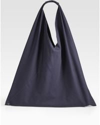 Maison Martin Margiela Small Classic Bottom-snap Nylon Hobo Bag - Lyst