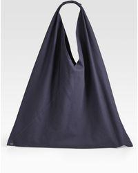 Maison Margiela Small Classic Bottom-snap Nylon Hobo Bag - Lyst