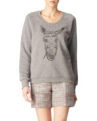 Mulberry Donkey-Print Sweatshirt gray - Lyst
