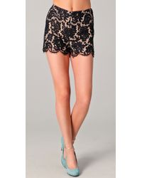 Peter Som Lace Shorts black - Lyst