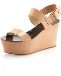 Vera Wang Lavender - Taryn Double-strap Wedge Sandal - Lyst