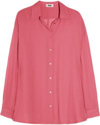 Acne Shining Crepe Shirt - Lyst