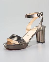 Christian Louboutin Echasse Ankle-wrap Platform Sandal - Lyst