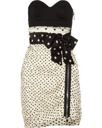 Sonia by Sonia Rykiel Cotton and Silk-blend Mini Dress - Lyst
