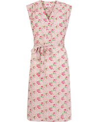 Tucker Pink Floral Print Silk Sleeveless Dress - Lyst