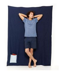 Travelteq Navy Blue Linen Towel - Lyst