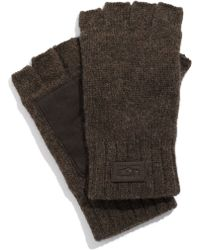 Ugg Lambswool Fingerless Gloves - Lyst