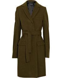 Balmain Wool Coat - Lyst