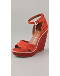Dolce Vita Paiva Lacquered Suede Wedges - Lyst