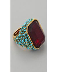 Kenneth Jay Lane - Antiqued Cocktail Ring - Lyst