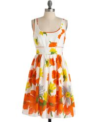 ModCloth Plays Well with Others Dress in Poppy - Lyst