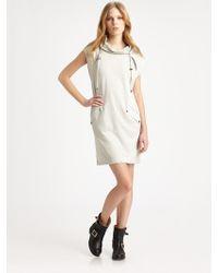 T By Alexander Wang Hooded Dress - Lyst
