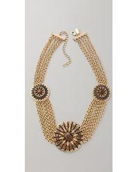 Tuleste - Circle Pendant & Chain Necklace - Lyst