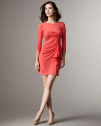 DKNY - Side Ruffle Dress - Lyst