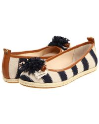 Juicy Couture - Gianna Striped Espadrille Ballet Flat - Lyst