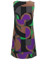 M Missoni Graphic Print Shift Dress - Lyst