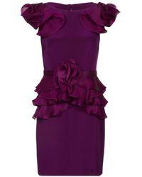 Notte by Marchesa Ruffled Dress - Lyst