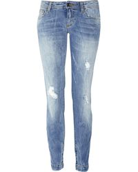 Dolce & Gabbana Distressed Low-rise Skinny Jeans - Lyst