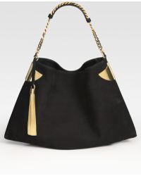 Gucci Medium Nubuck Shoulder Bag - Lyst