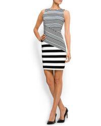 Mango Combi-stripes Dress - Lyst