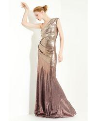 Donna Karan New York Collection Sequin One Shoulder Gown - Lyst