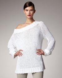 Donna Karan New York Off-the-shoulder Sweater - Lyst
