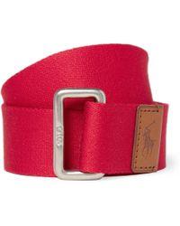 Polo Ralph Lauren Woven Cotton Belt - Lyst