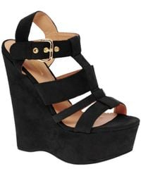 River Island Erika Cut Out Platform Wedges - Lyst